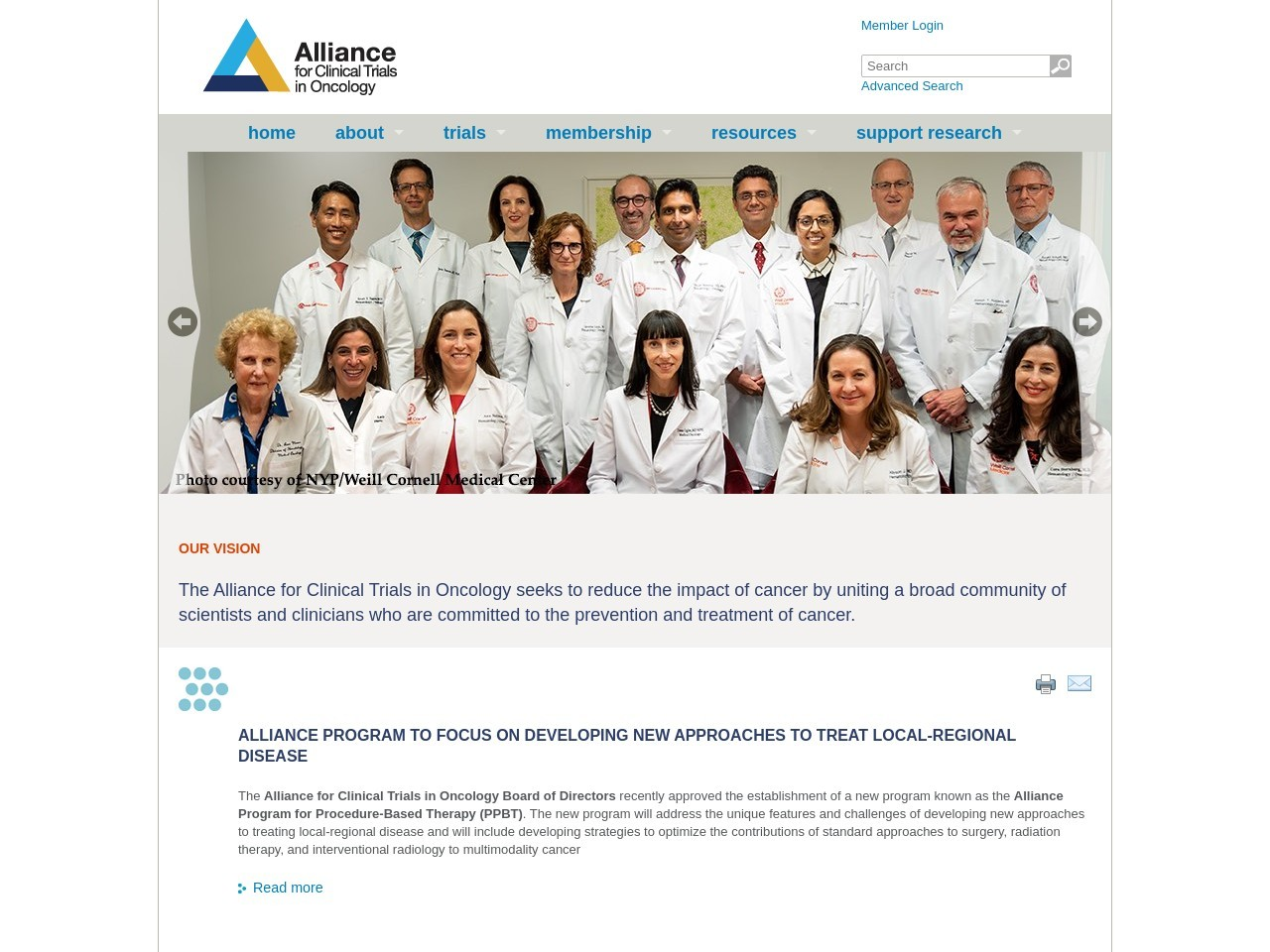 allianceforclinicaltrialsinoncology.org