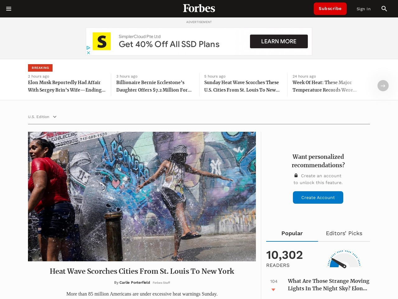 Forbes Welcome