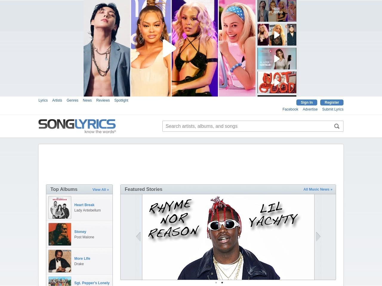 SONGLYRICS.com | The Definitive Community for Lyrics and Reviews